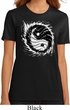 Ladies Yoga Shirt Yin Yang Sun Organic Tee T-Shirt