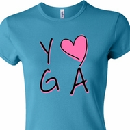 Ladies Yoga Shirt Yoga Love Crewneck Tee T-Shirt