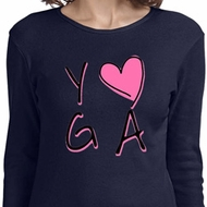 Ladies Yoga Shirt Yoga Love Long Sleeve Tee T-Shirt