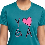 Ladies Yoga Shirt Yoga Love Moisture Wicking Tee T-Shirt
