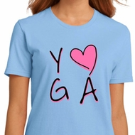 Ladies Yoga Shirt Yoga Love Organic Tee T-Shirt