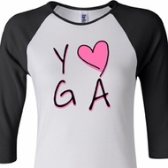 Ladies Yoga Shirt Yoga Love Raglan Tee T-Shirt