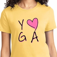 Ladies Yoga Shirt Yoga Love Tee T-Shirt