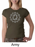Ladies Yoga T-shirt � Anahata Heart Chakra Crew Neck Shirt