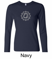Ladies Yoga T-shirt � Anahata Heart Chakra Long Sleeve Shirt