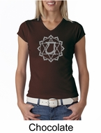 Ladies Yoga T-shirt � Anahata Heart Chakra V-neck Shirt