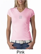 Ladies Yoga T-shirt � Aum Charm Meditation V-neck Shirt