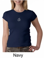 Ladies Yoga T-shirt � Aum Hindu Patch Crew Neck Shirt