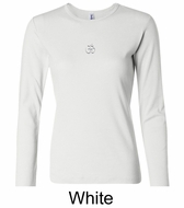 Ladies Yoga T-shirt � Aum Hindu Patch Long Sleeve Shirt