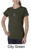 Ladies Yoga T-shirt � Aum Hindu Patch Organic Tee Shirt
