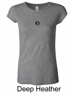 Ladies Yoga T-shirt � Aum Patch Meditation Longer Length Shirt