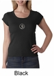 Ladies Yoga T-shirt – Aum Patch Meditation Scoop Neck Shirt