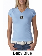 Ladies Yoga T-shirt � Aum Patch Meditation V-neck Shirt