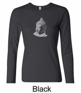 Ladies Yoga T-shirt � Buddha Big Print Long Sleeve Shirt