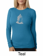 Ladies Yoga T-shirt � Buddha Big Print Thermal Shirt