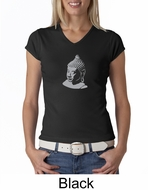 Ladies Yoga T-shirt � Buddha Big Print V-neck Shirt