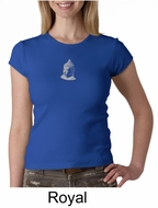 Ladies Yoga T-shirt � Buddha Small Print Crew Neck Shirt