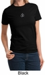 Ladies Yoga T-shirt – Larger Sizes Aum Hindu Patch Tee Shirt