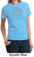 Ladies Yoga T-shirt � Larger Sizes Heart Chakra Meditation Tee Shirt