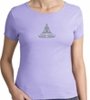 Ladies Yoga T-shirt – Lotus Pose Meditation Cotton Tee Shirt