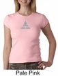 Ladies Yoga T-shirt – Lotus Pose Meditation Crew Neck Shirt