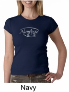 Ladies Yoga T-shirt � Namaste Big Print Crew Neck Shirt