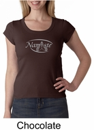 Ladies Yoga T-shirt � Namaste Big Print Scoop Neck Shirt