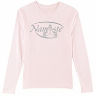 Ladies Yoga T-shirt � Namaste Meditation Long Sleeve Shirt