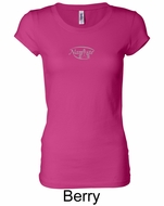Ladies Yoga T-shirt � Namaste Small Print Longer Length Shirt