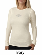 Ladies Yoga T-shirt � Namaste Small Print Thermal Shirt