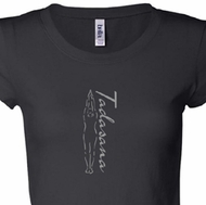 Ladies Yoga T-shirt Tadasana Mountain Pose Longer Length Shirt