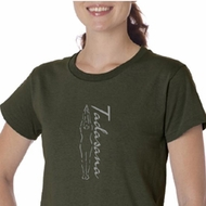 Ladies Yoga T-shirt Tadasana Mountain Pose Organic Tee