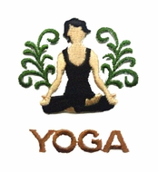 Ladies Yoga T-shirts - Embroidered Patch
