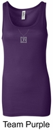 Ladies Yoga Tank � Aum Charm Meditation Longer Length Tanktop