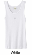 Ladies Yoga Tank � Aum Hindu Patch Meditation Organic Tanktop