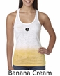 Ladies Yoga Tank – Aum Patch Meditation Ombre Burnout Tanktop