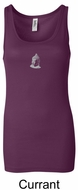 Ladies Yoga Tank � Buddha Small Print Longer Length Tanktop