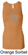 Ladies Yoga Tank � Heart Chakra Longer Length Racerback Tanktop