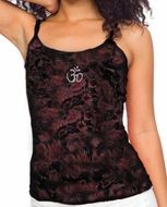 Ladies Yoga Tank Shirt Aum Hindu Patch Tie Dye Camisole Tanktop