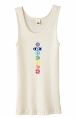 Ladies Yoga Tank Top 7 Colored Chakras Organic Tanktop