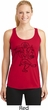 Ladies Yoga Tank Top Black Sketch Ganesha Dry Wicking Racerback