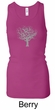 Ladies Yoga Tank Top Grey Tree of Life Longer Length Racerback Tanktop