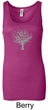 Ladies Yoga Tank Top Grey Tree of Life Longer Length Tanktop