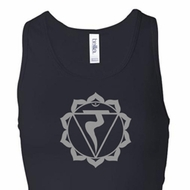 Ladies Yoga Tank Top Manipura Chakra Longer Length Racerback Tanktop