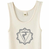 Ladies Yoga Tank Top Manipura Chakra Meditation Organic Tanktop