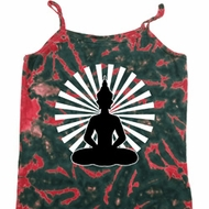Ladies Yoga Tank Top Meditating Buddha Tie Dye Camisole
