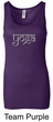 Ladies Yoga Tank Top Sanskrit Yoga Text Longer Length Tanktop