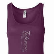 Ladies Yoga Tank Top Tadasana Mountain Pose Longer Length Tanktop