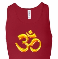 Ladies Yoga Tanktop 3D OM Longer Length Racerback Tank Top