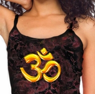 Ladies Yoga Tanktop 3D OM Tie Dye Tank Top
